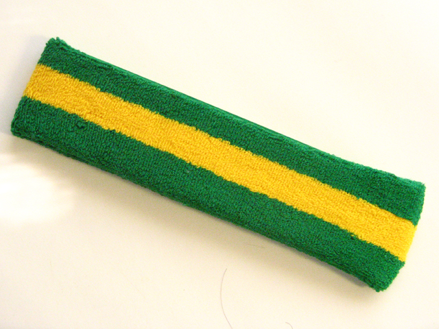 Green yellow green large head sweatband pro