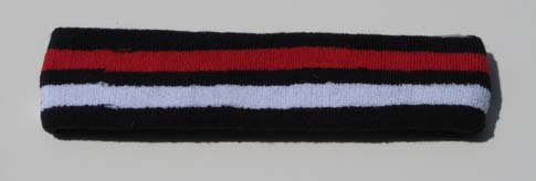 Basketball Navy White Red Striped Headband Pro 1piece