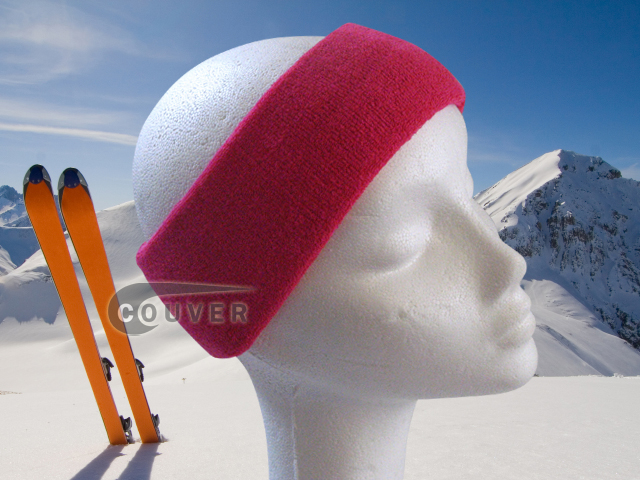 Couver Hot Pink Ski Snowboard Winter Headbands Wholesale 2PCS