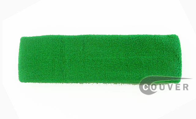 Large Bright Green Head Sweatbands Pro 3PIECES