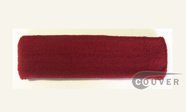 Large Dark Red Head Sweatbands Pro 3PIECES