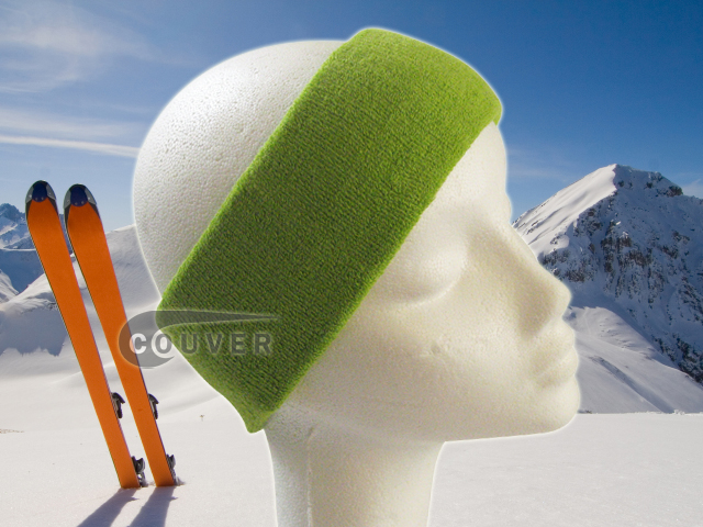 Couver Lime Green Ski Snowboard Winter Headbands Wholesale 2PCS