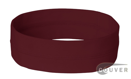 Maroon Ladies Nylon Headbands for women 3 pieces Set