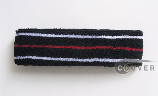 Navy with White Red White Tennis Head Sweatbands [12pieces]