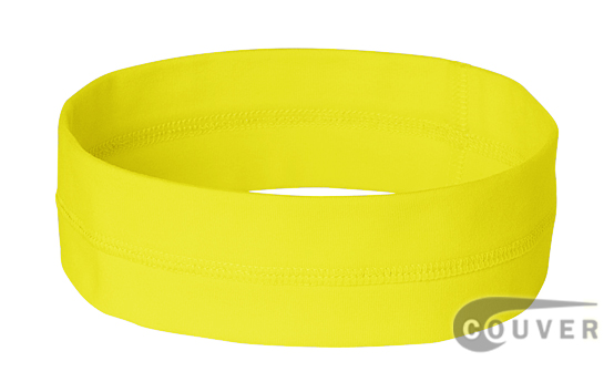 Neon Yellow Ladies Nylon Headbands for women 3 pieces Set