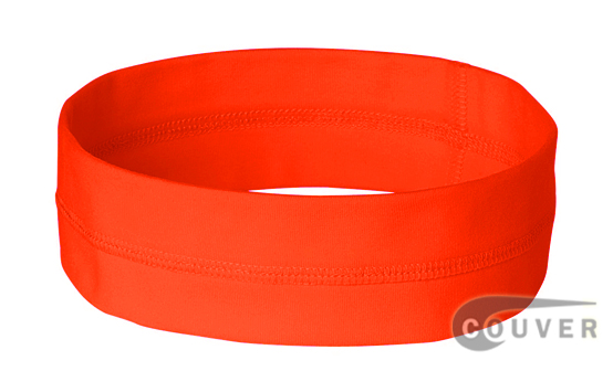 Safty Orange Ladies Nylon Headbands for women 3 pieces Set