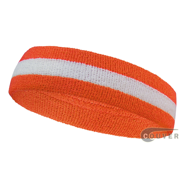 Dark orange white dark-orange wholesale headbands sweat 2color