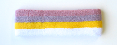 4 color pink purple yellow white sport Headband [6pieces]