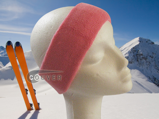 Couver Pink Ski Snowboard Winter Headbands Wholesale 2PCS
