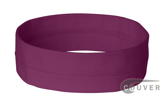 Purple Ladies Nylon Headbands for women 3 pieces Set