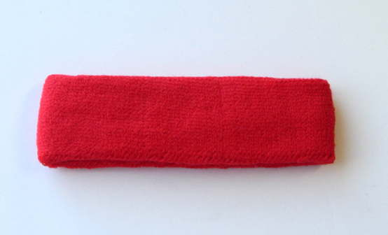 Red Athletic Head Sweatbands (Sweat Headband) Wholesale 12PIECES