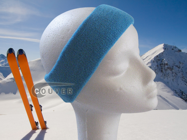 Couver Sky Blue Ski Snowboard Winter Headbands Wholesale 2PCS