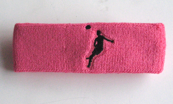 Soccer Headband Sample Heading Bright Pink (French Rose Pink)