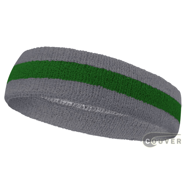 Wholesale green steel blue 2color sports sweat headbands terry c