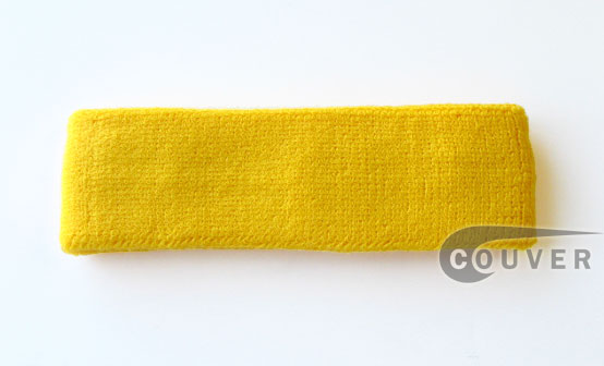 Yellow Athletic Head Sweatband(Sweat Headband) Wholesale 12PIECE