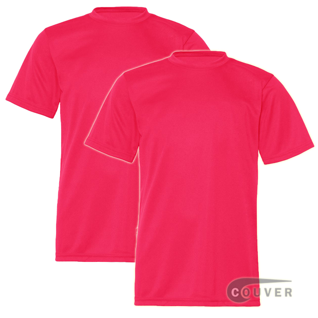 C2 Sport Youth Performance Tees Hot Coral - 2 Pieces Set