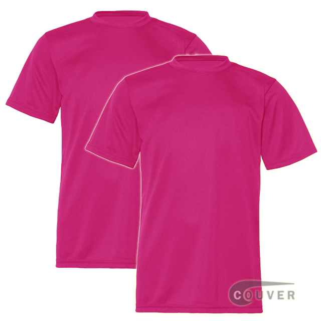 C2 Sport Youth Performance Tees Hot Pink - 2 Pieces Set