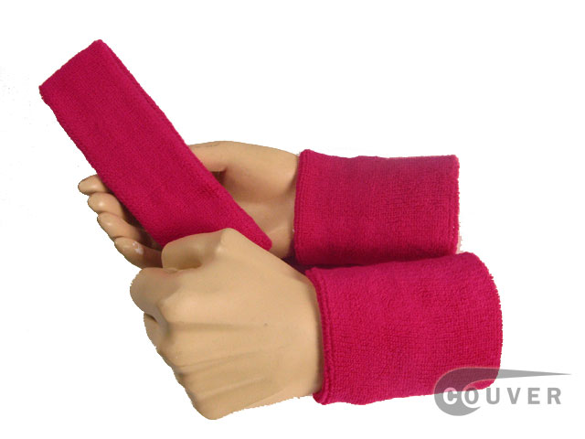 Hot Pink Sweatbands Set Wholesale