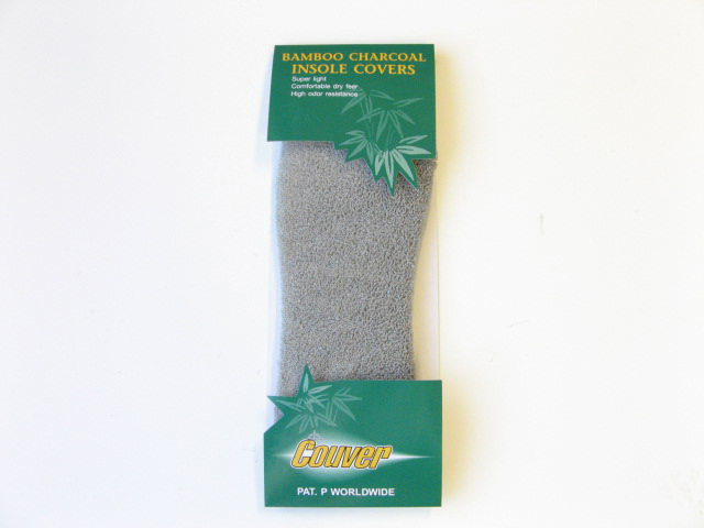 Bamboo Charcoal Insole Covers Light Gray (Gray) [1pair]