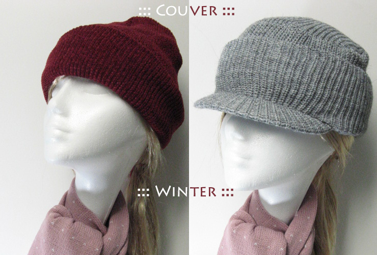 Cute knit visor cap Winter Knit Cap With Cuff