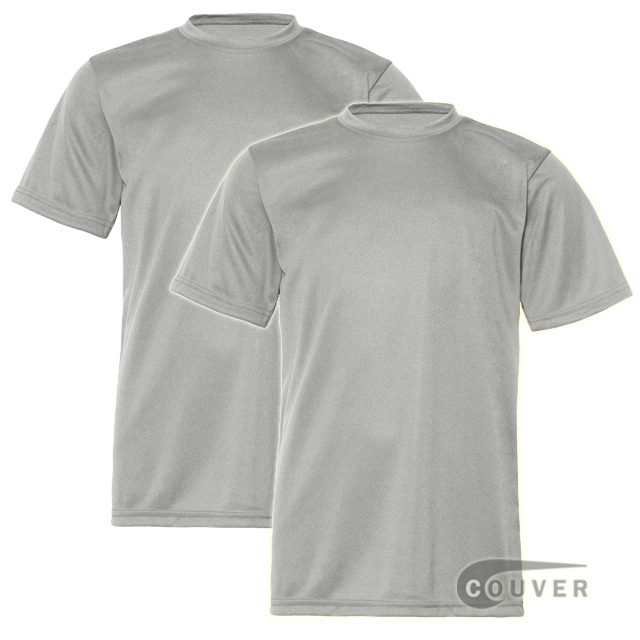 C2 Sport Youth Performance Tees Light Gray - 2 Pieces Set