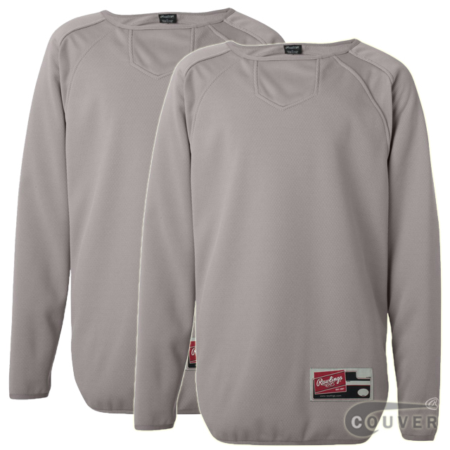Light Gray Youth Long Sleeve Flatback Mesh Fleece Pullover -2 Pieces Set