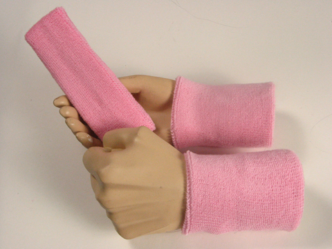 Light Pink Sweatbands Set Wholesale