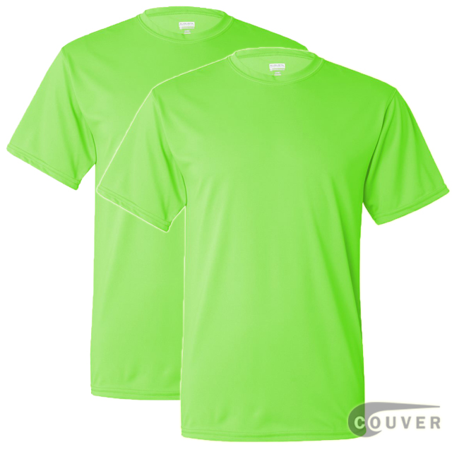 100% Poly Moisture Wicking T-Shirt - 2 Pieces Set(Lime)