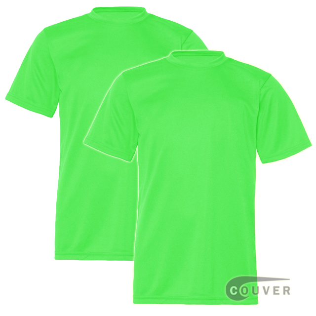 C2 Sport Youth Performance Tees Lime - 2 Pieces Set