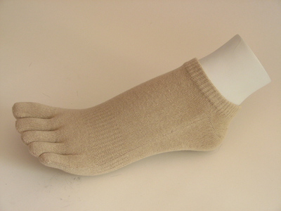 Beige no show toe socks Wholesale from Couver, 6PAIRS
