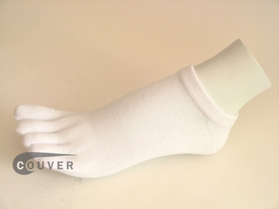 White no show 5Finger Toe Socks Wholesale from Couver, 6PAIRS