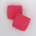 Bright pink youth sweat sports wristbands terry wholesale 6pairs