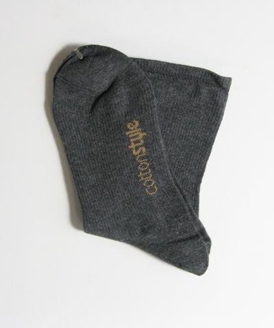 Charcoal gray mens cotton style mid-calf socks