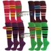 Premium COUVER Adult Mid-sized 4Striped Sports/Softball Knee Socks 3PRs