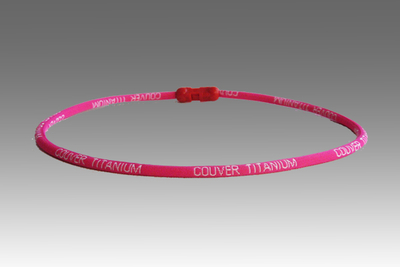 Bright Pink Titanium Germanium Farinfrared Couver Power Necklace