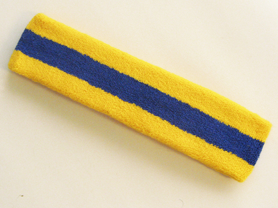 Yellow blue yellow large head sweatband pro