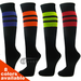Couver Striped Black Softball/Baseball/Sports Knee Socks 3Pairs