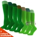 COUVER Youth Nylon Striped Green Sports Knee Socks  - 3Pair Pack