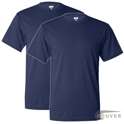 100% Poly Moisture Wicking T-Shirt - 2 Pieces Set(Navy)