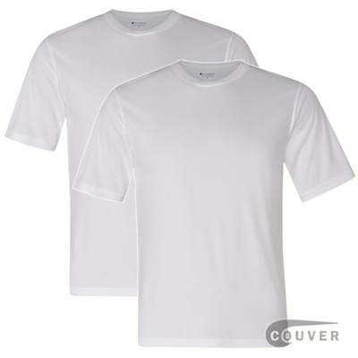 aa8830340 Champion Men's Double Dry Performance T-Shirt 2 Pieces Set - White ...