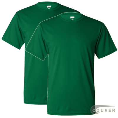100% Poly Moisture Wicking T-Shirt - 2 Pieces Set(Green)