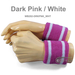 2.5 inch 2colored Striped Cotton wrist sweatband Wholesale[6 Pairs]