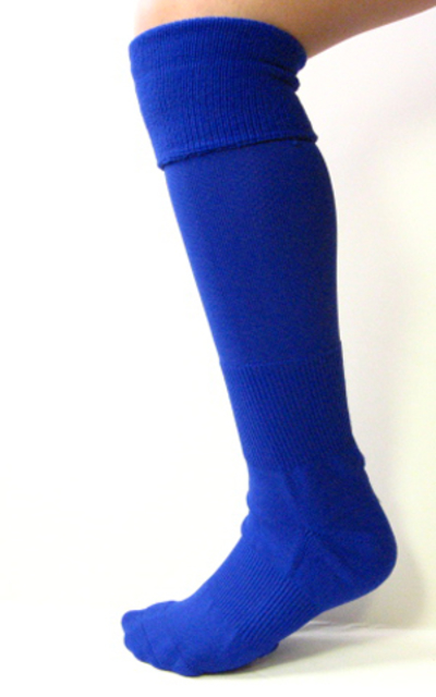 Blue Kids Child Youth Soccer Socks Knee High Length 3PAIRS
