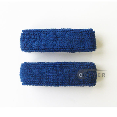 Blue 1inch thin cotton terry wrist sweatbands [3pairs]