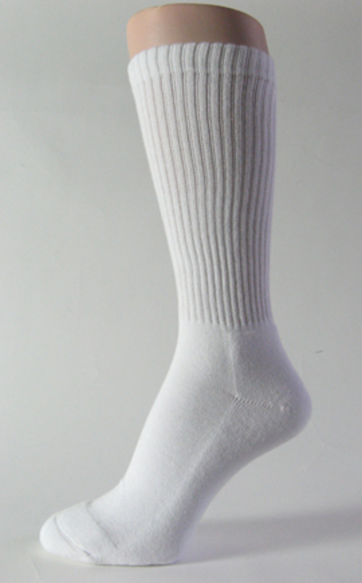 White mid calf athletic running socks crew 3PAIRS : COUVER ...