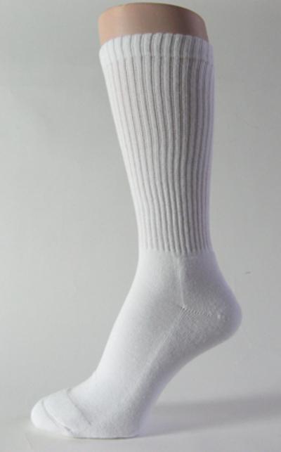 White mid calf athletic running socks