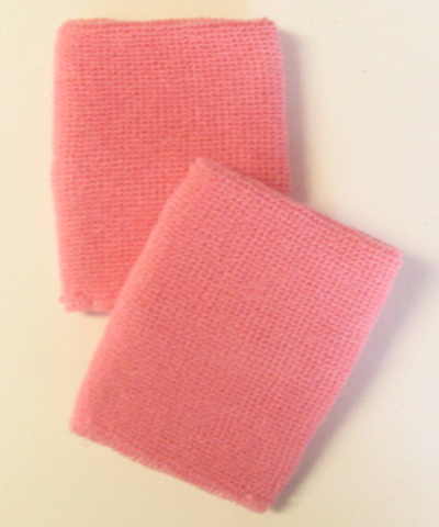 "Pink Mens 4"" Wrist Sweatband (Athletic Wristband) Wholesale 6PRS"