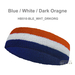 Couver Premium Quality White in Middle 3Color Head Sweatbands[12 Pieces]