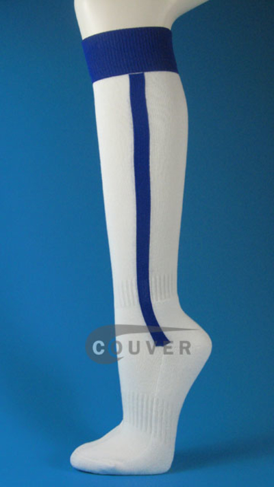 White And Blue Vertical Stripe Baseball Softball Knee
