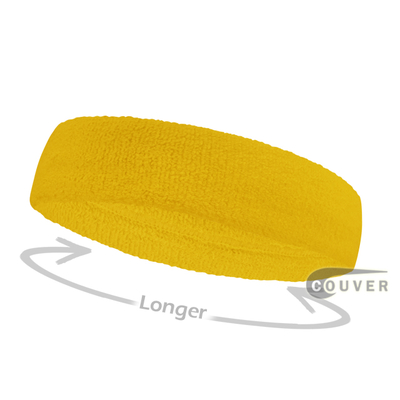 Yellow long terry headbands for sports [3pieces]